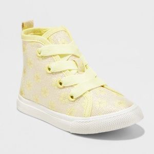 Cat and jack yellow Lacey high top sneakers